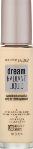Maybelline Dream Radiant Liquid Medium Coverage 00 Alabaster Hydrating Foundation Perspective: front