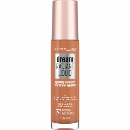 Maybelline Dream Radiant Liquid Medium Coverage 125 Coconut Hydrating Foundation Perspective: front