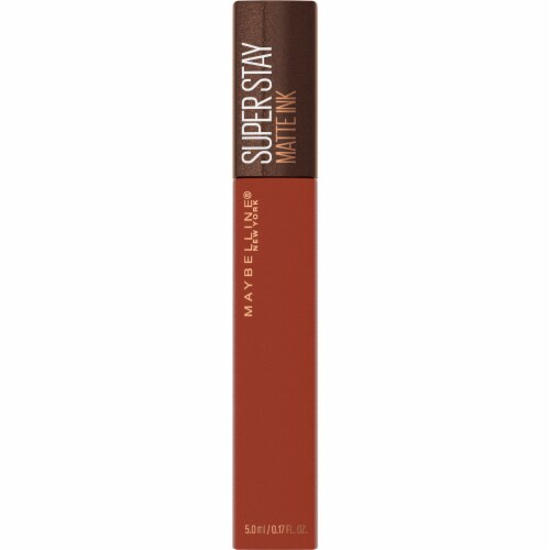Maybelline Superstay Matte Ink Coffee Cocoa Connoisseur Liquid Lipstick Perspective: front