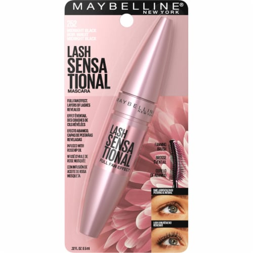 Maybelline Lash Sensational Midnight Black Mascara Perspective: front