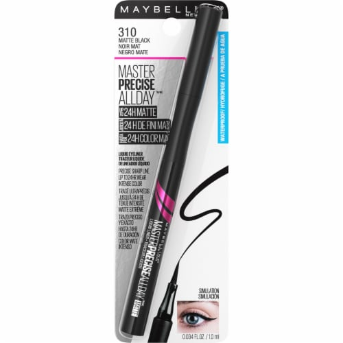 Maybelline Master Precise All Day Waterproof Matte Black Liquid Eyeliner Perspective: front