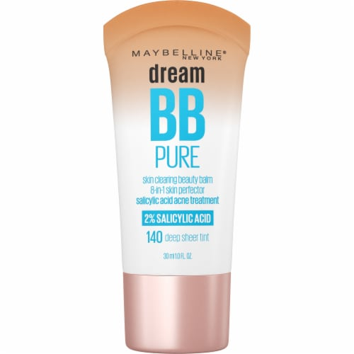 Maybelline Dream Pure BB Cream 140 Sheer Tint 8-in-1 Skin Perfector - Deep Perspective: front