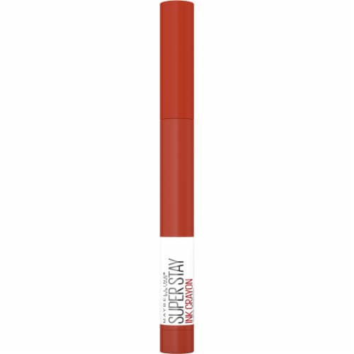 Maybelline SuperStay Ink Spiced Rise To The Top Crayon Lipstick Perspective: front