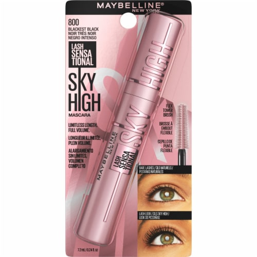 Maybelline Lash Sensational Sky High 800 Blackest Black Mascara Perspective: front