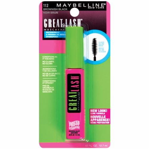 Maybelline Great Lash 112 Brownish Black Waterproof Mascara Perspective: front