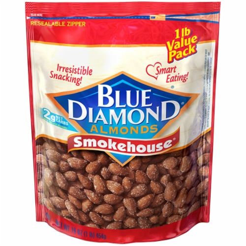 Blue Diamond Smokehouse Almonds Perspective: front