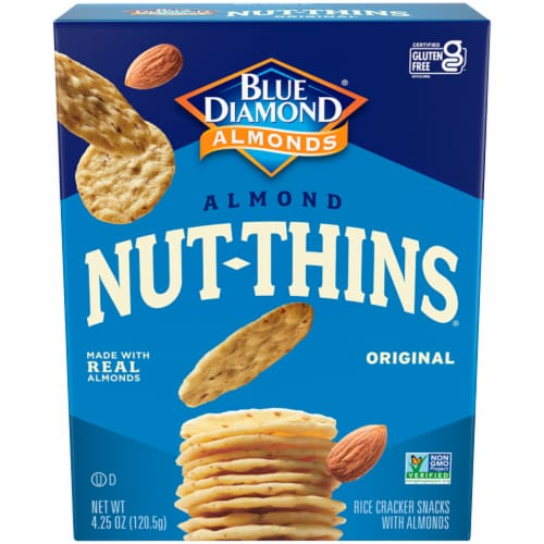 Blue Diamond Almond Nut-Thins Crackers Perspective: front