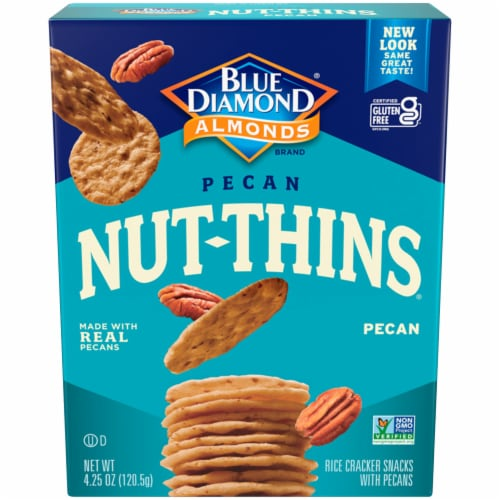 Blue Diamond Pecan Nut-Thins Crackers Perspective: front