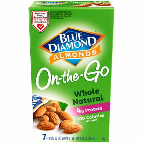 Blue Diamond Whole Natural On-the-Go Almonds Perspective: front