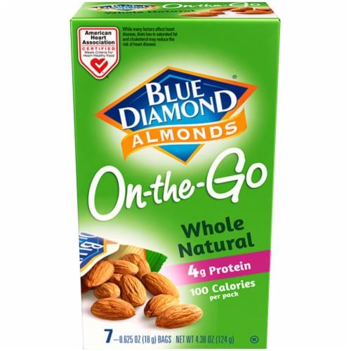 Blue Diamond Whole Natural Almonds 100 Calorie Bags Perspective: front