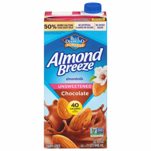 Almond Breeze Chocolate Unsweetened Almondmilk Perspective: front