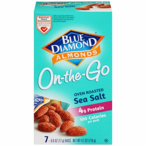 Blue Diamond® Oven Roast Sea Salt Almonds On-the-Go Packs Perspective: front