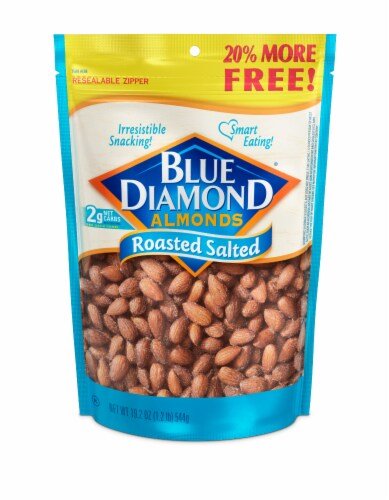 Blue Diamond Roasted Salted Almonds Perspective: front
