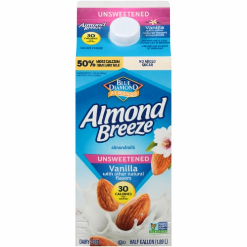 Almond Breeze Unsweetened Vanilla Almondmilk Perspective: front