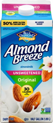 Almond Breeze Unsweetened Original Almondmilk Perspective: front