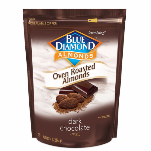 Blue Diamond Dark Chocolate Oven Roasted Almonds Perspective: front