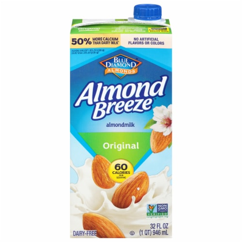 Blue Diamond Almond Breeze Original Almond Milk Perspective: front