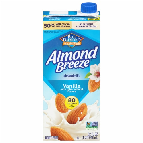 Blue Diamond Vanilla Almond Milk Perspective: front