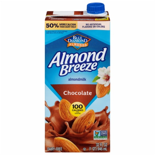 Blue Diamond Almond Breeze Chocolate Almond Milk Perspective: front