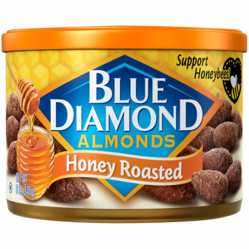 Blue Diamond Honey Roasted Almonds Perspective: front