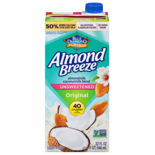 Blue Diamond Organic Unsweetened Almond Coconut Milk Perspective: front