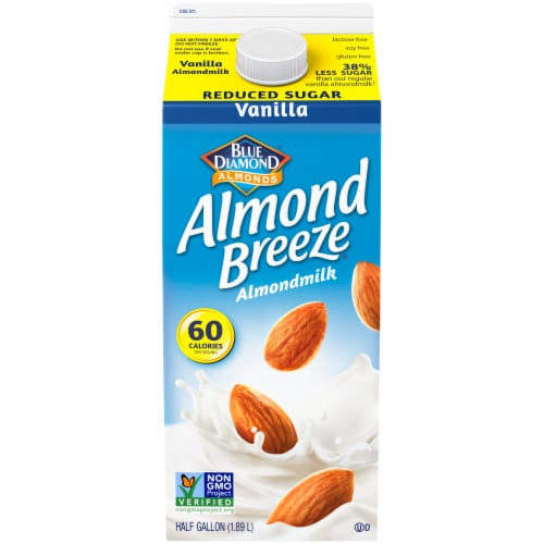 Blue Diamond Almond Breeze Reduced Sugar Vanilla Almondmilk Perspective: front