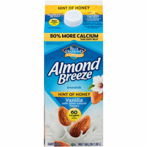 Almond Breeze Hint of Honey Vanilla Almondmilk Perspective: front