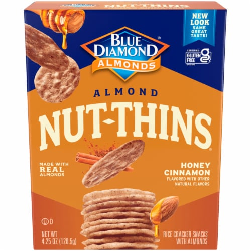 Blue Diamond Honey Cinnamon Nut Thins Perspective: front