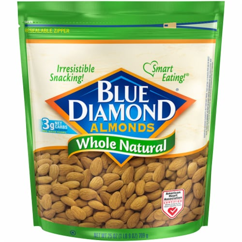 Blue Diamond Whole Natural Almonds Perspective: front