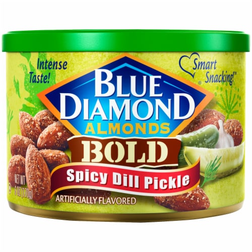 Blue Diamond Bold Spicy Dill Pickle Almonds Perspective: front