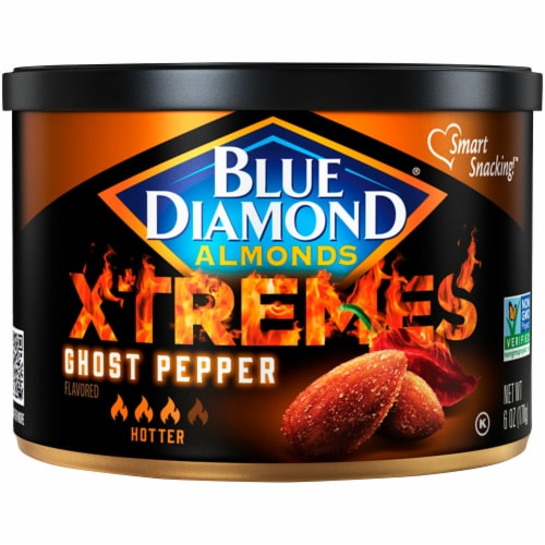 Blue Diamond® Xtremes Ghost Pepper Almonds Perspective: front