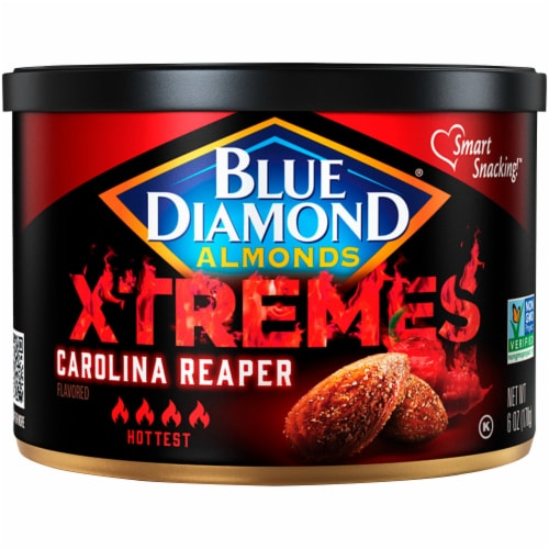 Blue Diamond® Xtremes Carolina Reaper Almonds Perspective: front