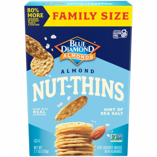 Blue Diamond Nut-Thins Hint of Sea Salt Almond Crackers Perspective: front