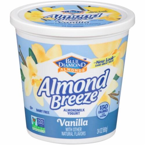 Blue Diamond Almond Breeze Vanilla Almondmilk Yogurt Alternative Perspective: front