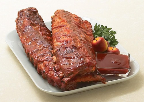 Fully Cooked Baby Back Ribs Perspective: front