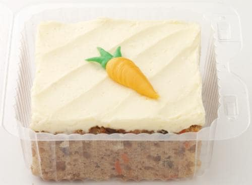 Bakery Fresh Carrot Cake Square Perspective: front