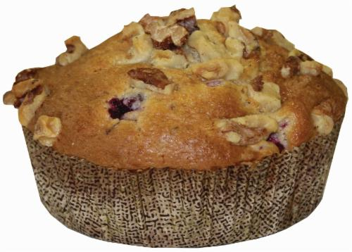 Bakery Fresh Cranberry Walnut Muffins Perspective: front