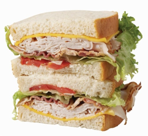 Oven Roasted Turkey Club Sandwich Perspective: front