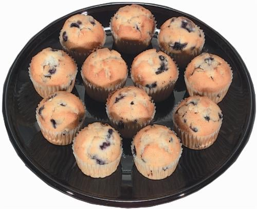Blueberry Mini Muffins Perspective: front