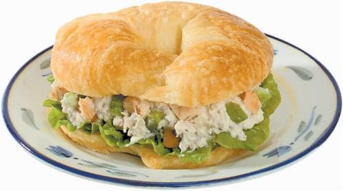 Rosted Chicken Salad Croissant Perspective: front