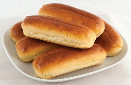 Bakery Fresh Brioche Hot Dog Buns Perspective: front