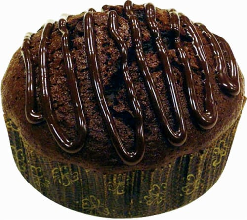Bakery Fresh Double Chocolate Chip Muffins Perspective: front