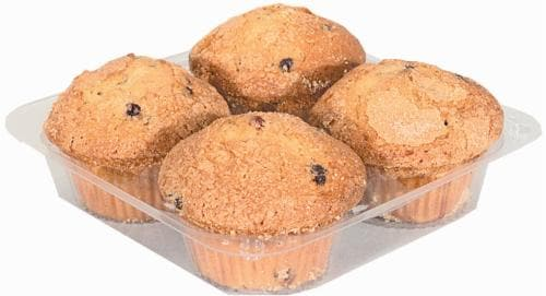 Bakery Fresh Blueberry Muffins Perspective: front