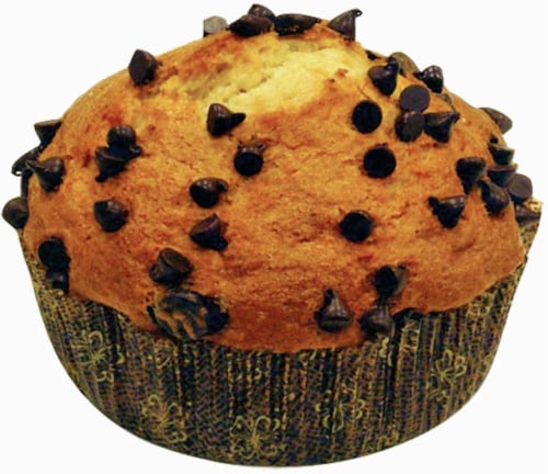 Bakery Fresh Chocolate Chip Muffins Perspective: front