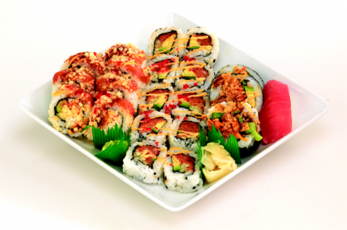 Spicy California Maki Sushi NOT AVAILABLE BEFORE 11:00 AM DAILY Perspective: front