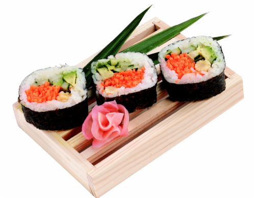Veggie Maki Sushi NOT AVAILABLE BEFORE 11:00 AM DAILY Perspective: front