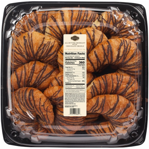 Private Selection All Butter Croissant With Chocolate Drizzle Perspective: front