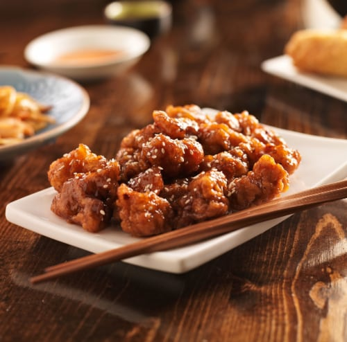 Chinese Kitchen Sesame Chicken (NOT AVAILABLE BEFORE 11 A.M.) Perspective: front