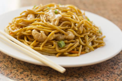 Chinese Kitchen Chicken Lo Mein (NOT AVAILABLE BEFORE 11 A.M.) Perspective: front