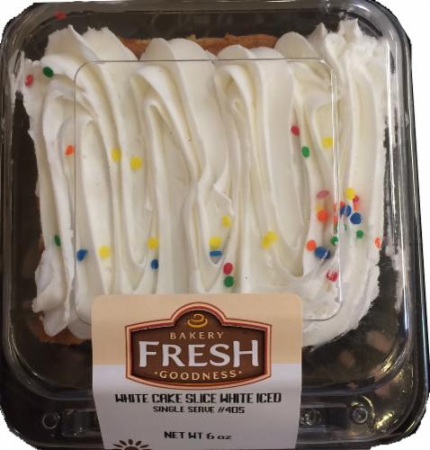 Bakery Fresh Goodness White Cake Slice Perspective: front